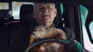 Bill Murray Gets Stuck Back In The 'Groundhog Day' Loop In A New Super Bowl Ad