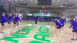 The South Dakota State Basketball Team Drilled Five Straight Half-Court Shots In Practice