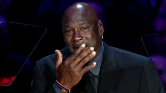 A Tearful Michael Jordan Paid Tribute To 'Little Brother' Kobe Bryant At His LA Memorial