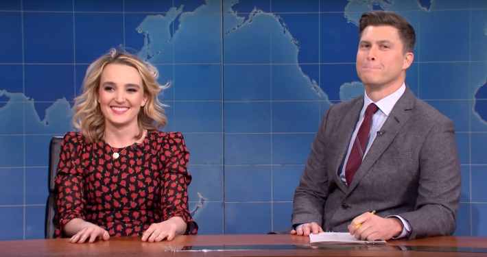 A Scarlett Johansson Impression Made Colin Jost Uncomfortable On 'SNL Weekend Update'