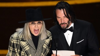 Keanu Reeves And Diane Keaton's Onstage Oscars Banter Inspired A Lot Of Whoa-Centered Reactions