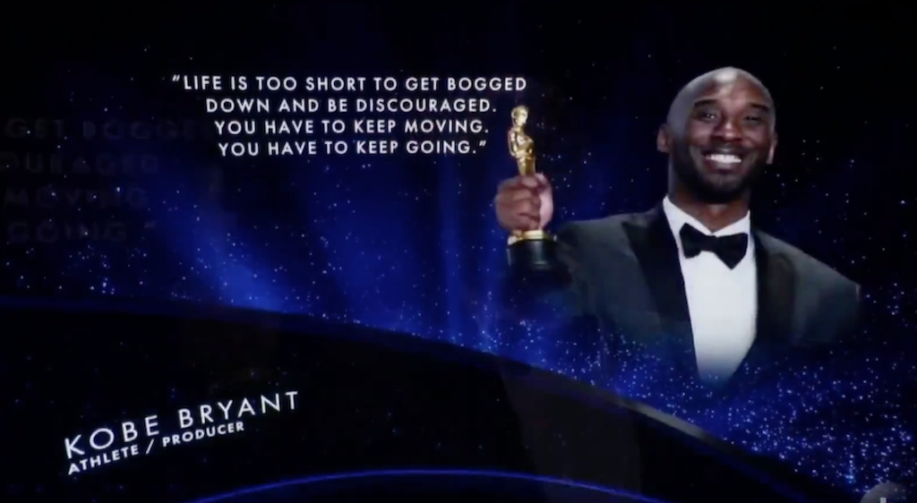 The 2020 Oscars 'In Memoriam' Montage Opened By Honoring Kobe Bryant