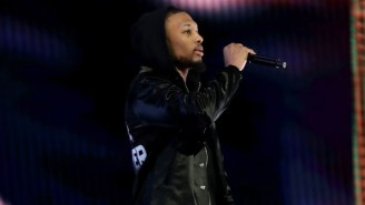 Damian Lillard Wore A 'Mamba Forever' Jacket During His All-Star Saturday Night Performance