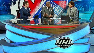 """A Look Inside The """"Organized Chaos"""" At NHL Network Studios On Trade Deadline Day"""