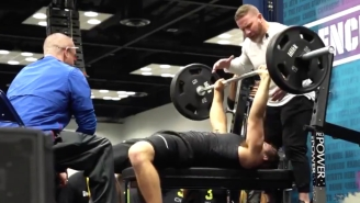 Punter And NFL Draft Hopeful Michael Turk Put On A Show With 25 Bench Press Reps At The Combine