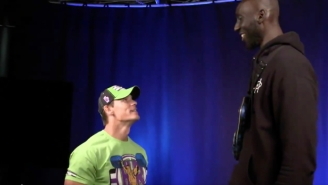John Cena And The Miz Met Their Biggest Fan When Celtics Center Tacko Fall Went To Smackdown