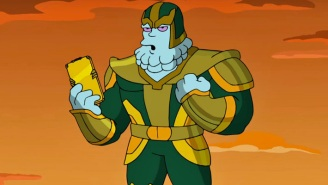 A 'The Simpsons' MCU Parody Clip Unveils Kevin Feige As A Thanos-Like Character