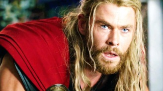 Chris Hemsworth Showed Off His Jacked 'Love And Thunder' Physique While Leaving Lebowski Thor Behind Him