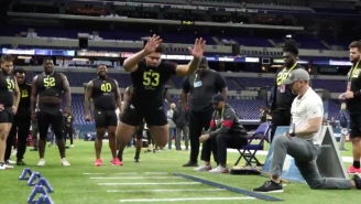 Iowa OL Tristan Wirfs Put On A Show At The NFL Draft Combine