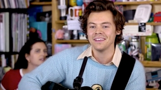 Harry Styles Colors His Acoustic Music With Subtle Twang In His Tiny Desk Concert