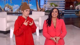 Demi Lovato Tells Justin Bieber He Inspired Her During Her Recovery While Hosting 'Ellen'