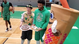 Marcus Smart Was Surprised With Donuts At Practice On His 26th Birthday
