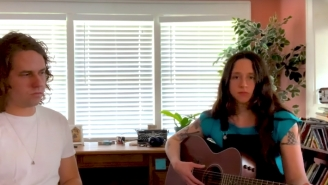 Waxahatchee And Kevin Morby Harmonize At Home For NPR's Tiny Desk Series
