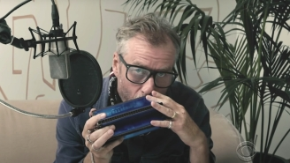 Matt Berninger Busts Out A Harmonica For His Mercury Rev Cover On 'Colbert'