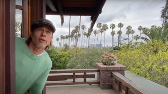 Brad Pitt Dropped By John Krasinski's 'Some Good News' With Some Pretty Good Weather News