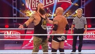Watch Goldberg Get Crushed By Braun Strowman At WrestleMania 36