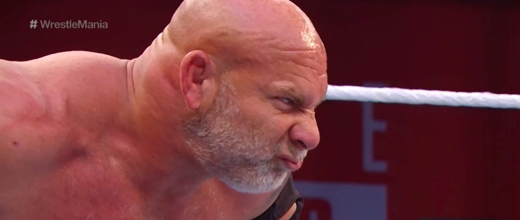 Watch Goldberg Get Crushed By Braun Strowman At WrestleMania 36