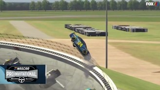 Jeff Gordon Nearly Flew Off The Track In His iRacing Debut At Talladega