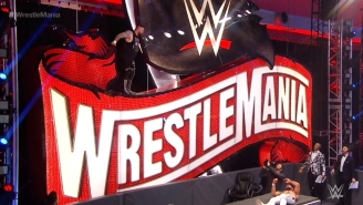Kevin Owens Dove Off The WrestleMania Sign And Maybe Killed Seth Rollins (Video)