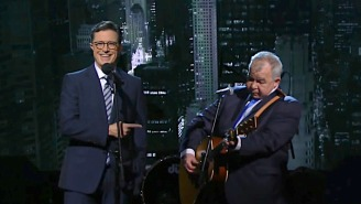 John Prine And Stephen Colbert Sing Together In A Previously Unaired 'Late Show' Duet From 2016