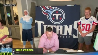 Mike Vrabel Said His Son Was 'On A Stool' Not The Toilet During An NFL Draft Live Shot