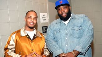 T.I. And Killer Mike Don Protective Gear And Pass Out Meals In Their Atlanta Community