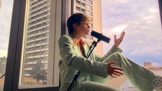 Christine And The Queens Serenades From The Window Of Her Apartment On 'Colbert'