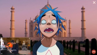 Damon Albarn And 2-D Duet For Gorillaz's 'Jimmy Kimmel Live!' Performance Of 'Aries'