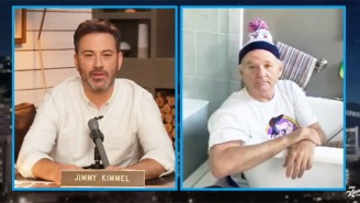 Bill Murray Does A Delightful Bathtub Interview Ahead Of His Nacho Showdown With Guy Fieri