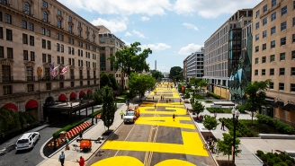 A Giant Black Lives Matter Mural Has Been Painted On The Road Leading To The White House