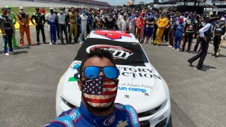 NASCAR Drivers And Teams Pushed Bubba Wallace's Car In Solidarity Ahead Of Monday's Race