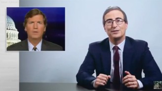 John Oliver Swings Again At Tucker Carlson For Throwing A Fit About Elmo's Stance Against Police Brutality