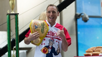 Joey Chestnut Continued His Fourth Of July Dominance By Eating A Record 75 Hot Dogs In 10 Minutes