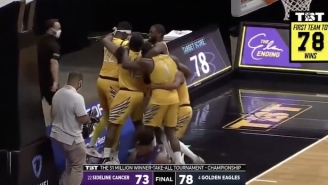 Golden Eagles Took Down Sideline Cancer To Win The Basketball Tournament