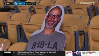 The Dodgers Put A Cutout Of The Late Brody Stevens At Dodgers Stadium