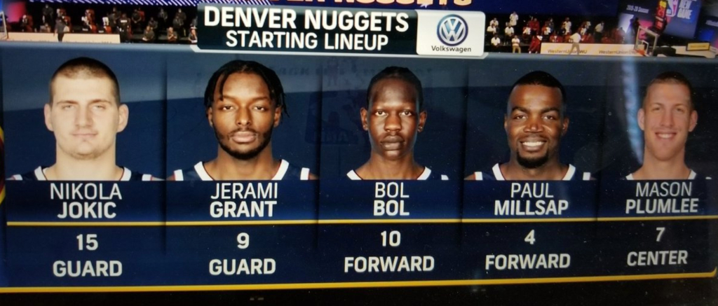 The Nuggets Starting Lineup For Their First Bubble Scrimmage Is Huge