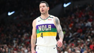 J.J. Redick Shotgunned A Beer In The Cold Tub To Pay A Twitter Bet