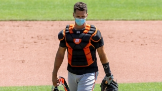 Giants Catcher Buster Posey Opted Out Of The MLB Season After The Births Of His Twin Daughters