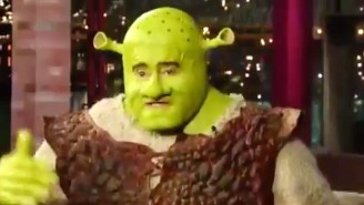 A Hilarious 'Letterman' Clip With Regis Philbin Dressed As Shrek Went Viral After His Death