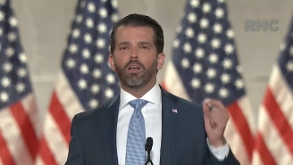 Donald Trump Jr's RNC Speech Had People Wondering What The Hell Was Going On With His Red, Watery Eyes