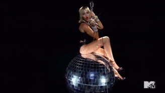 Miley Cyrus Traded Her Wrecking Ball For A Mirror Ball In A 'Midnight Sun' Performance At The 2020 VMAs