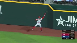 Angels OF Jo Adell Had A Fly Ball Bounce Out Of His Glove And Over The Fence For A Home Run