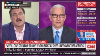 Anderson Cooper Destroyed The MyPillow Guy Over His 'Snake Oil' Covid Cure