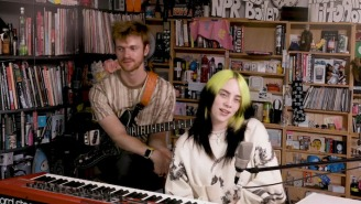 Billie Eilish And Finneas Perform An At-Home Tiny Desk Concert On An Impressive Replica Set