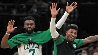 Jaylen Brown Asked A Ref Not To 'Pick On' Marcus Smart During A Loss To Miami