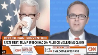 Anderson Cooper Needed Coffee To Get Through A Breakdown Of All The Lies Trump Told In His RNC Speech