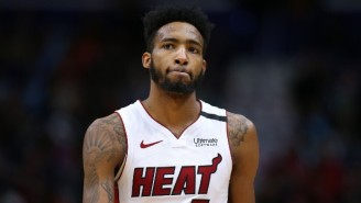 Derrick Jones Jr. Was Stretchered Off After An Apparent Neck Injury Against The Pacers