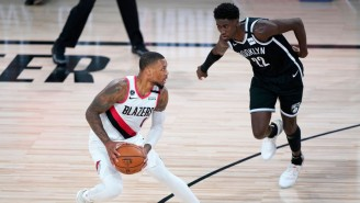 Damian Lillard Led The Blazers To A 134-133 Win Over The Nets To Clinch A Spot In The Play-In