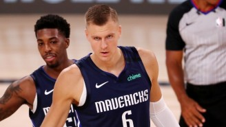 Kristaps Porzingis Is Out For The Rest Of The Mavs-Clippers Series With A Meniscus Tear