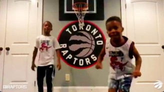 The Raptors' Families Delivered Delightful Starters Intros For Their First Playoff Game
